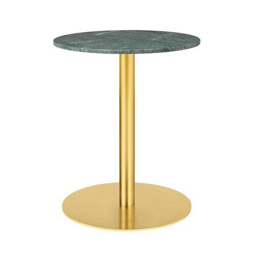 Gubi Table 1.0 Esstisch rund Ø 60cm Marmor grün messing