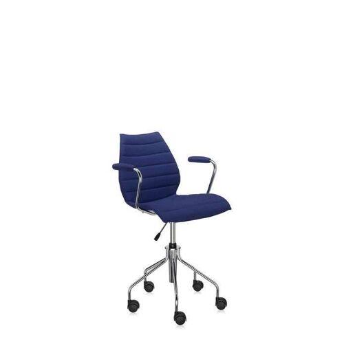 Kartell Maui Soft Bürostuhl mit Armlehnen blau