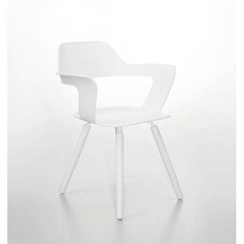 Radius Design Muse Stuhl Sitzfläche und Beine weiß