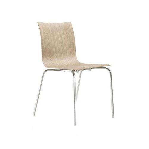 Lapalma Thin S16 Stuhl Metallfüße Leder rot (C2)