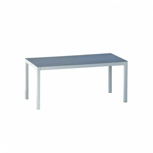 Jan Kurtz Quadrat Tisch 140 x 80cm HPL Zementoptik weiß