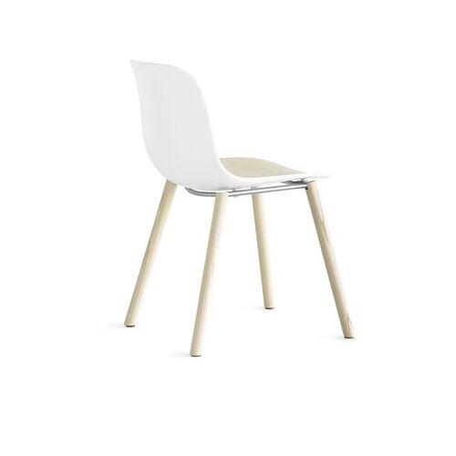 Lapalma Seela S313 Stuhl weiß lackiert / Eiche gebleicht weiß / Eiche gebleicht