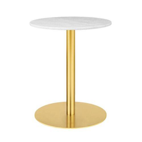 Gubi Table 1.0 Esstisch rund Ø 60cm Marmor weiß messing