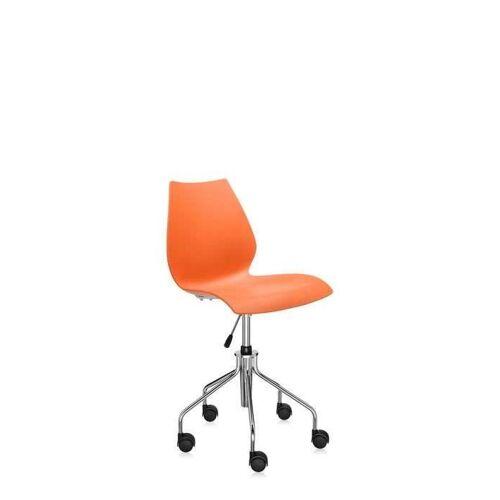 Kartell Maui Bürostuhl ohne Armlehnen orange