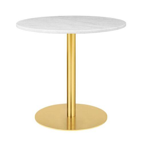 Gubi Table 1.0 Esstisch rund Ø 80cm Marmor weiß messing