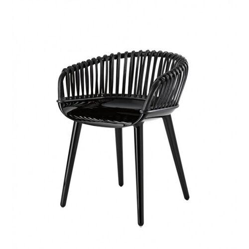 Magis Cyborg Club Stuhl schwarz glänzend Peddigrohr schwarz
