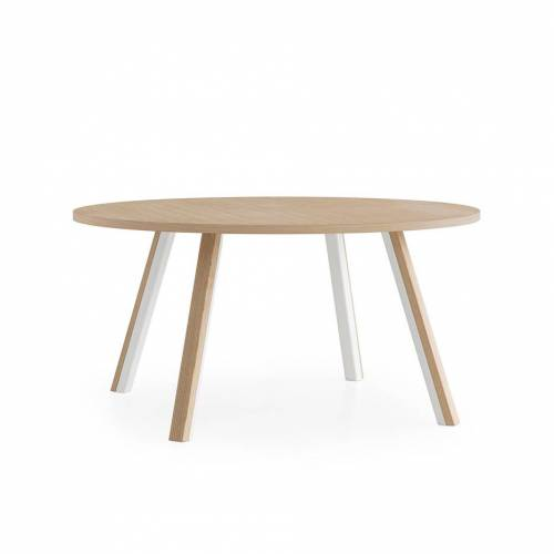 Lapalma Ori Tisch rund Ø 160cm weiß lackiert / Eiche gebleicht Eiche gebleicht