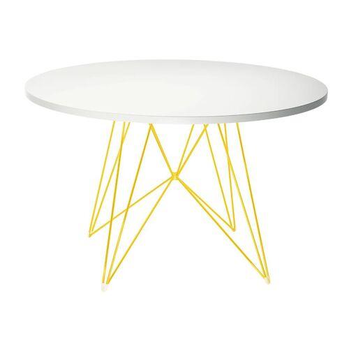 Magis XZ3 Tisch Ø 120cm gold weiß