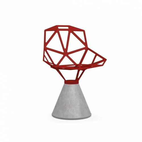 Magis Chair One Stuhl Beton fix grau rot