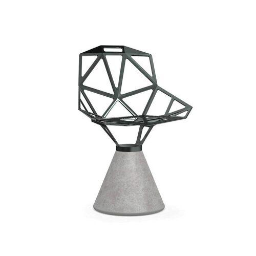 Magis Chair One Stuhl Beton fix grau graugrün