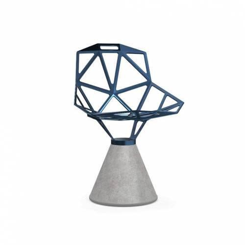 Magis Chair One Stuhl Beton fix grau blau