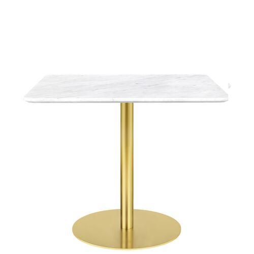 Gubi Table 1.0 Esstisch eckig 80 x 80cm Glas rot messing