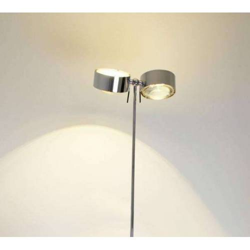 Top Light Puk Maxx Floor Maxi Twin Halogen Stehleuchte chrom 4x Glas matt Standard-Fassung