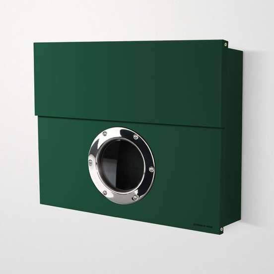 Radius Design Letterman XXL Briefkasten dunkelgrün (RAL 6005) ohne Klingel ohne Pfosten