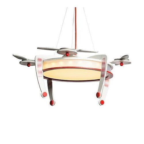 ELOBRA Kinderleuchten Elobra No. 136126 LED Pendelleuchte Drohne Rot, Silber