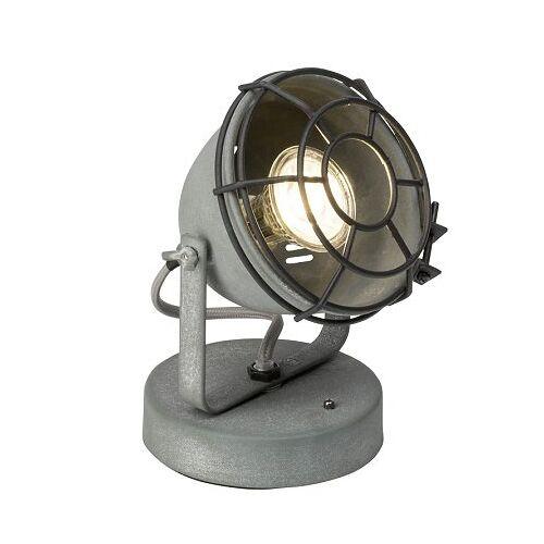 Brilliant Leuchten No. 98992-70 Tischleuchte Carmen Grill grau Beton 17 cm