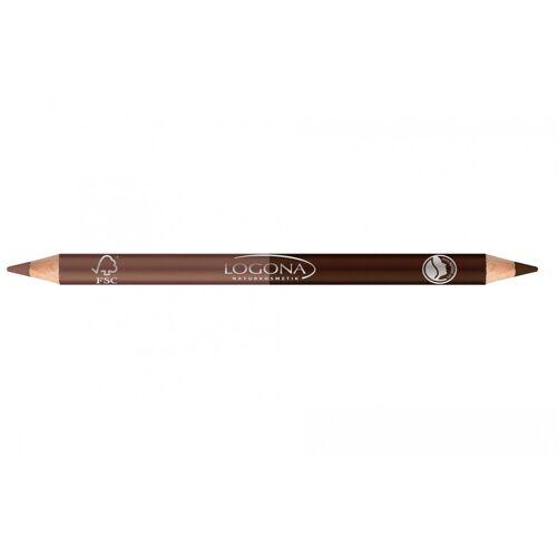 Logona Double Eyeliner Pencil No. 01 (coffee)