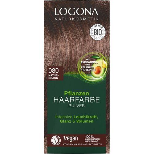 Logona Pflanzen-Haarfarbe Pulver 080 naturbraun