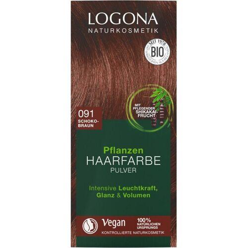 Logona Pflanzen-Haarfarbe Pulver 091 schokobraun