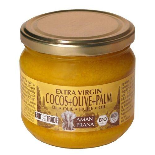 Amanprana Bio Kokosnussöl, Olivenöl und Rotes Palmöl