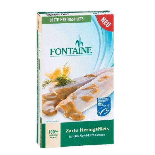 Fontaine Heringsfilets in Senf-Dill bio