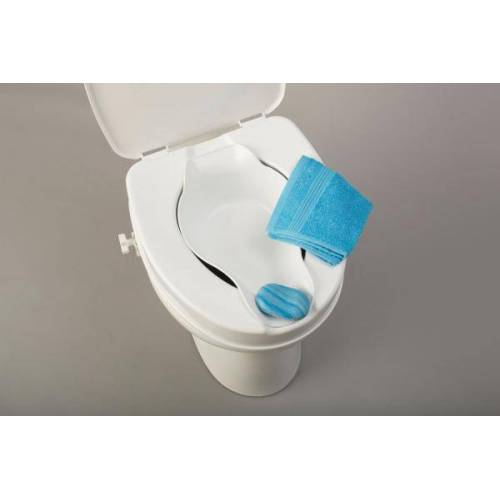 RUSSKA - Ludwig Bertram Toilettensitzerhöhung mit Deckel und Bidet Russka Toilettensitzerhöher, inkl. Bidet, 10 cm, mit Deckel