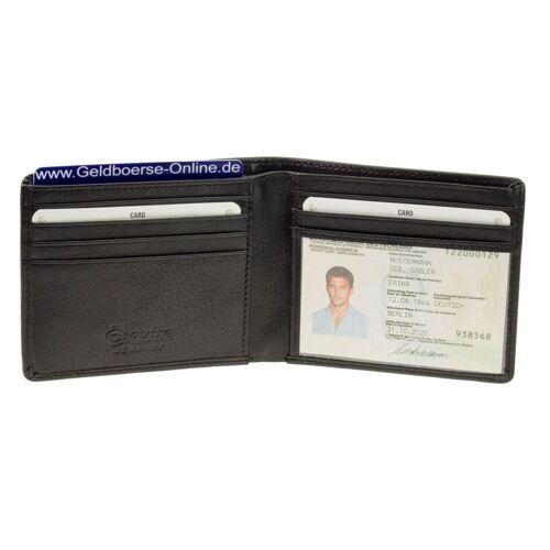 Esquire Amerikanische Geldbörse Compact 3025-38 Schwarz, Kartenetui