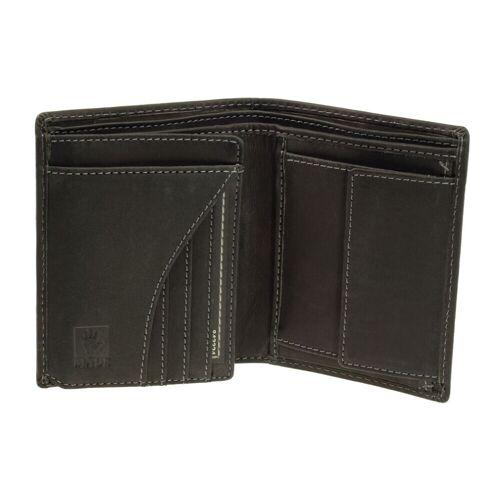 Greenburry Vintage Geldbörse, Geldbeutel 1701-BL-20 Schwarz Leder