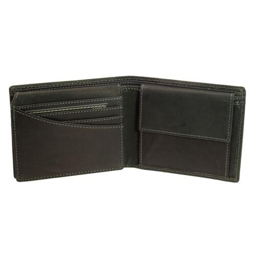Greenburry Leder Geldbörse 1705-BL-20 Schwarz Herren Portemonnaie