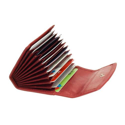 Esquire Duo Leder Kreditkartenetui 3016-59 Rot Kreditkartenfächer
