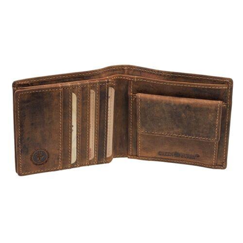 Greenburry Vintage Leder Geldbörse 1672-25 Geldbeutel Portemonnaie Braun