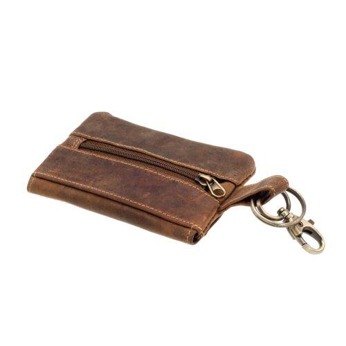 Greenburry Vintage Schlüsseltasche Dual Leder Braun Schlüsseletui/Geldbörse