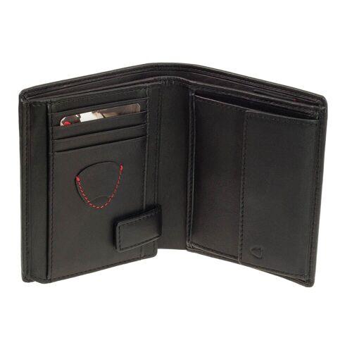 Strellson Hochformat Geldbörse Strellson Oxford Circus V8 Leder Schwarz RFID Geldbeutel