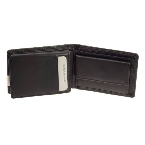 Bodenschatz Portemonnaie Klein Bodenschatz Kings Nappa 8-652-001 Minigeldbörse Schwarz RFID