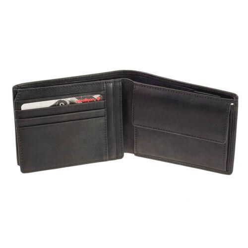 Strellson Geldbörse Quer Strellson Blackwall Billfold H7 Schwarz Geldbeutel RFID Schutz