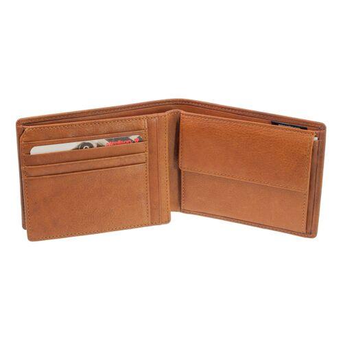 Strellson Geldbörse Quer Strellson Blackwall Billfold H7 Cognac Geldbeutel RFID Schutz