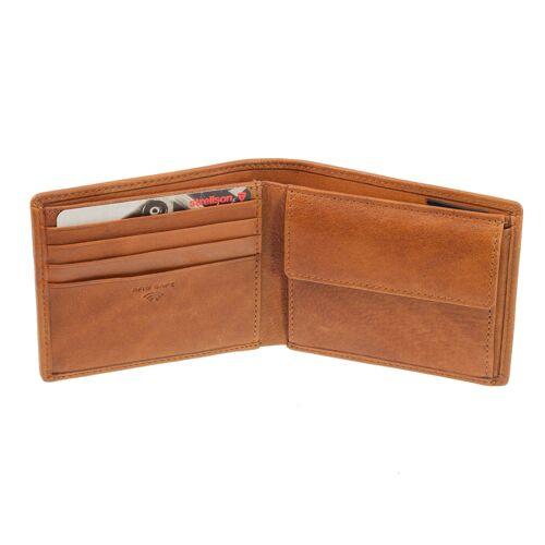 Strellson Kleine Strellson Geldbörse Blackwall Billfold H8 1 Cognac Geldbeutel RFID Schutz