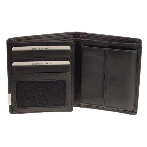Bodenschatz Geldbörse Hochformat Bodenschatz Kings Nappa 8-660-001 Portemonnaie Schwarz RFID