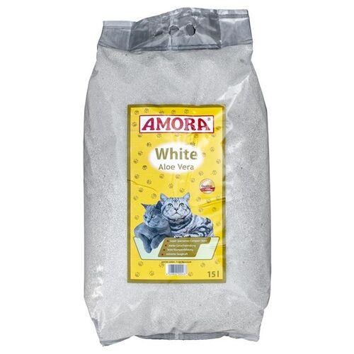 AMORA (0,81 EUR/l) AMORA Katzenstreu White Compact Aloe Vera 15 l