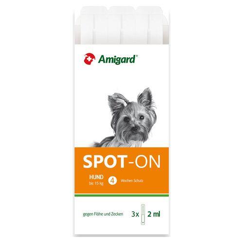 Amigard (213,17 EUR/100ml) Amigard Spot-on Hund für Hunde bis 15 kg - 3 x 2 ml