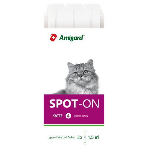 Amigard (262,00 EUR/100ml) Amigard Spot-on für Katzen 3 x 1,5 ml