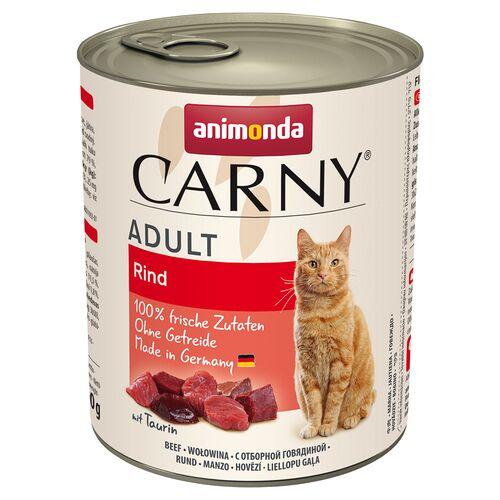 Animonda (3,00 EUR/kg) Animonda Carny Adult Rind pur 800 g - 6 Stück