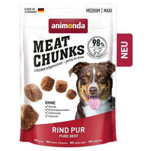 Animonda (28,73 EUR/kg) Animonda Meat Chunks Rind pur 80 g - 6 Stück