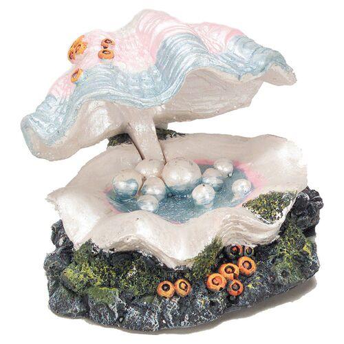 Aqua Della Aquariumdekoration Muschel mit Ausströmer