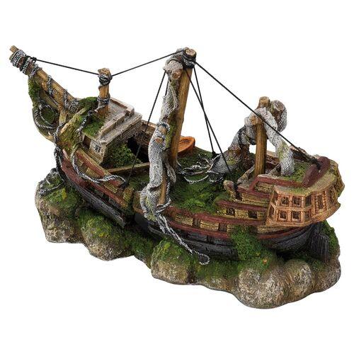 Aqua Della Aquariumdekoration Schiff mit Masten, Größe: M