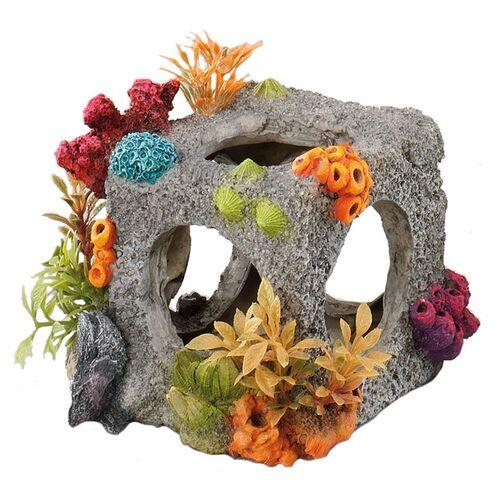 Aqua Della Aquariumdekoration Würfel mit Korallen