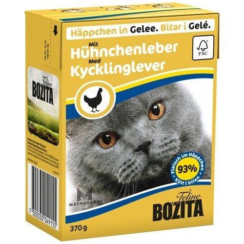 Bozita (3,51 EUR/kg) Bozita Häppchen in Gelee mit Hühnchenleber 370 g - 16 Stück