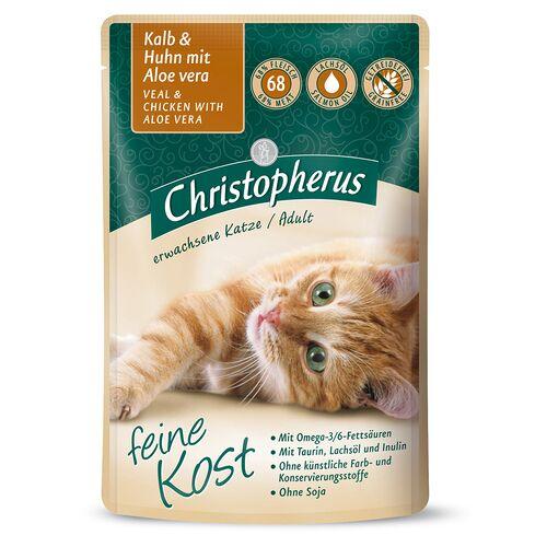 Christopherus (13,62 EUR/kg) Christopherus Adult mit Kalb + Huhn mit Aloe Vera 85 g - 12 Stück