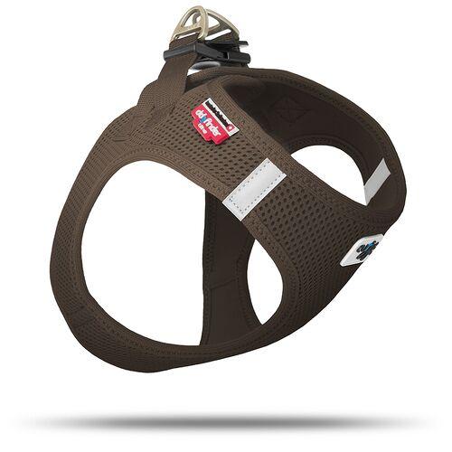 Curli Vest Geschirr Air-Mesh braun, Größe: S