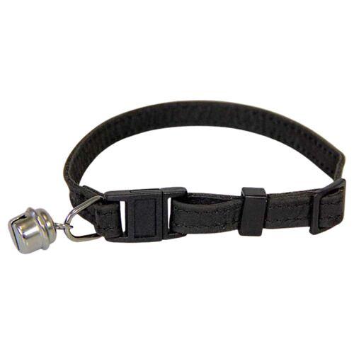 Das Lederband Katzenhalsband mit Klick-Verschluss Black